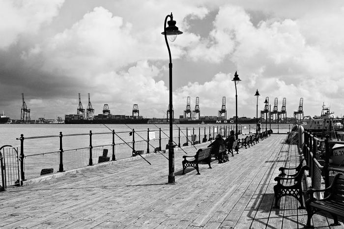 Halfpenny Pier - fisherman's row