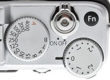 Shutter speed and exposure dial